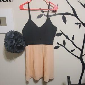 Black and Peach Dress